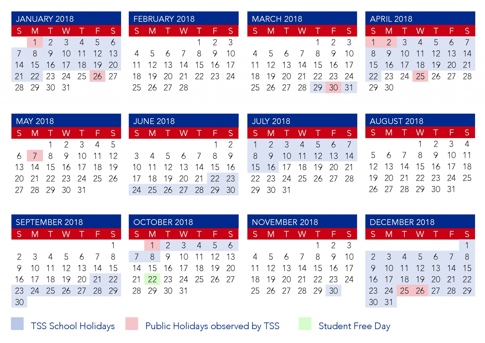Term Calendar Dates | The Southport School